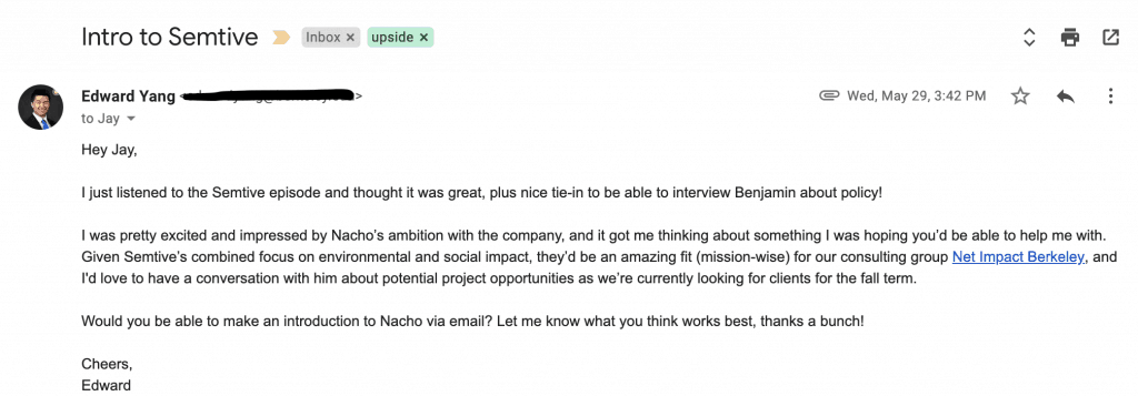 How to introduce people via email