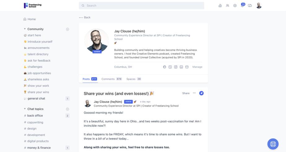 Circle user profiles