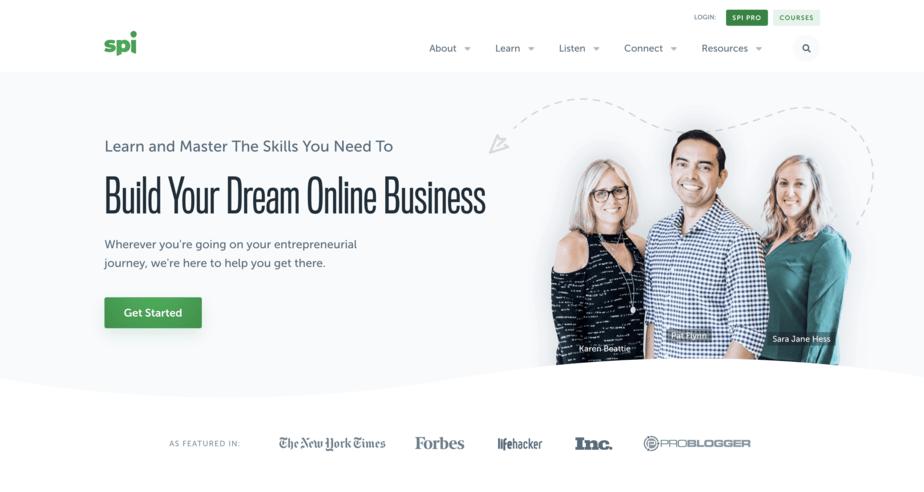 Smart Passive Income homepage