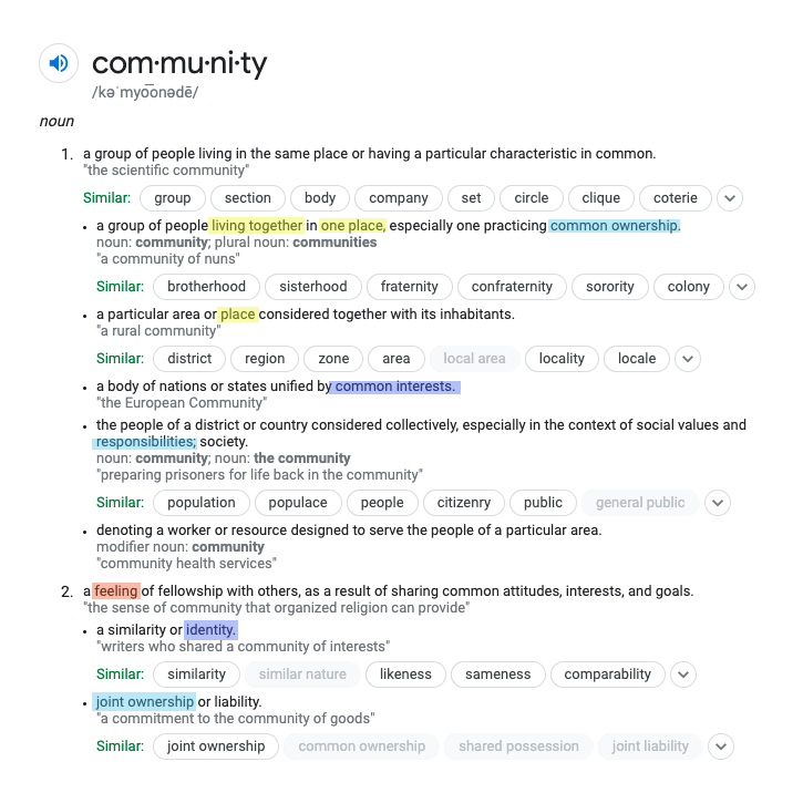 Community definition